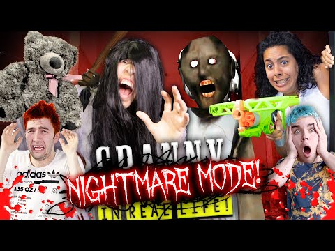 Granny In Real Life *NIGHTMARE MODE!* with Slenderina and friends!