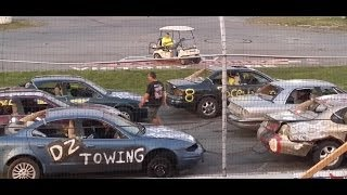 preview picture of video 'Chain Race Highlights - Crashocolypse 2014 at Lake County Speedway, Crashorama'
