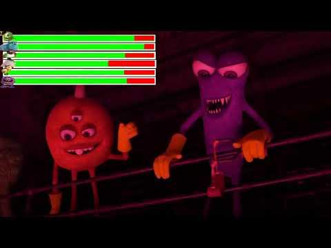 Monster University - Scare Games: Toxic Challenge Scene with healthbars
