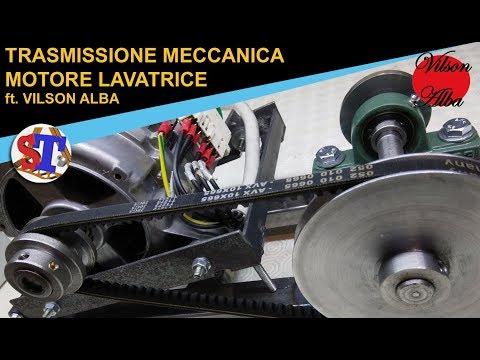 TRASMISSIONE MECCANICA ft. Vilson Alba - Motore lavatrice cinghia puleggia