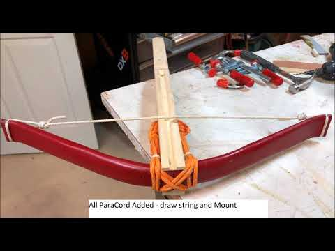 DIY CrossBow PVC Wood and Paracord - смотреть онлайн на Hah Life