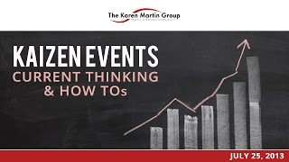 Kaizen Events: Current Thinking & How To's