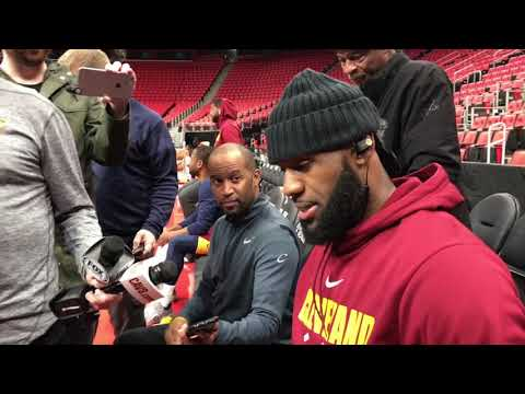 LeBron James counts the number of point guards the Cavaliers are missing