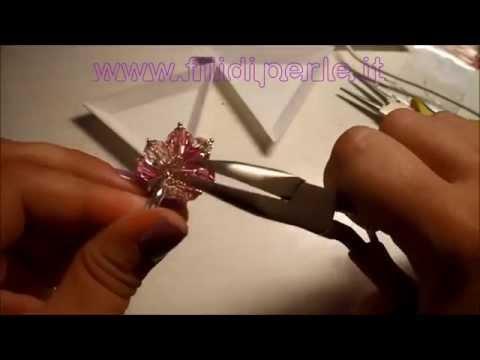 Tutorial: anello a grappolo con sfere swarovski www.filidiperle.it DIY