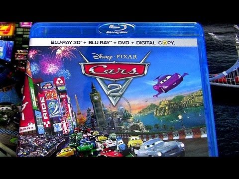 Cars 2 Blu-ray Dvd Unboxing Review Official Movie Walt Disney Pixar Animation Blucollection