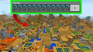 HERKESİN MERAK ETTİĞİ SEED !! Eğlenceli Video (Minecraft PE Seed)