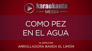 Karaokanta - La Arrolladora Banda Limón - Como pez en el agua