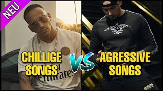 RAPPERS CHILLIGE SONGS VS. IHRE AGGRESSIVEN SONGS PART 3 🔥