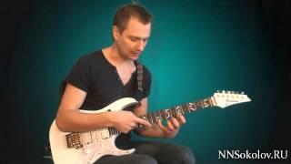 Смотреть онлайн Урок игры на гитаре: фрагмент пассажа Tornado of Souls