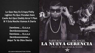 La Nueva Gerencia (Video Letra) - Farruko Ft. Arcangel (Original) Reggaeton 2014