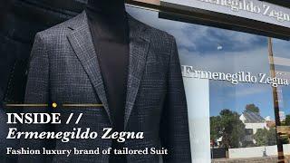 INSIDE //  Ermenegildo Zegna - Fashion luxury brand of tailored Suit
