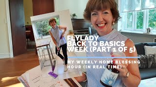 Flylady Back to Basics Week - My Weekly Home Blessing Hour (in real time)!