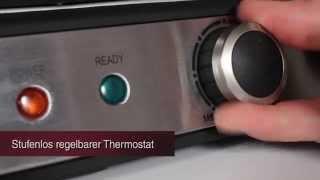 Гриль контактный Profi Cook 1029 PC-KG 2000 Вт Германия от компании PolyMarket - видео