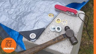 How to put grommets or eyelets into a tarp