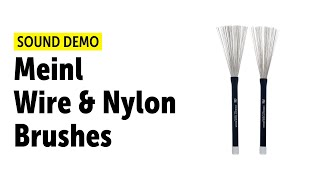 Meinl Wire & Nylon Brushes (5 Pairs) Sound Demo