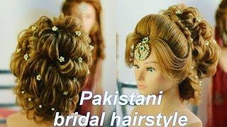 Bridal Hairstyle In India || Hindu Bridal Hairstyle || Pakistani Mix Hairstyle || Bridal Bun | Easy