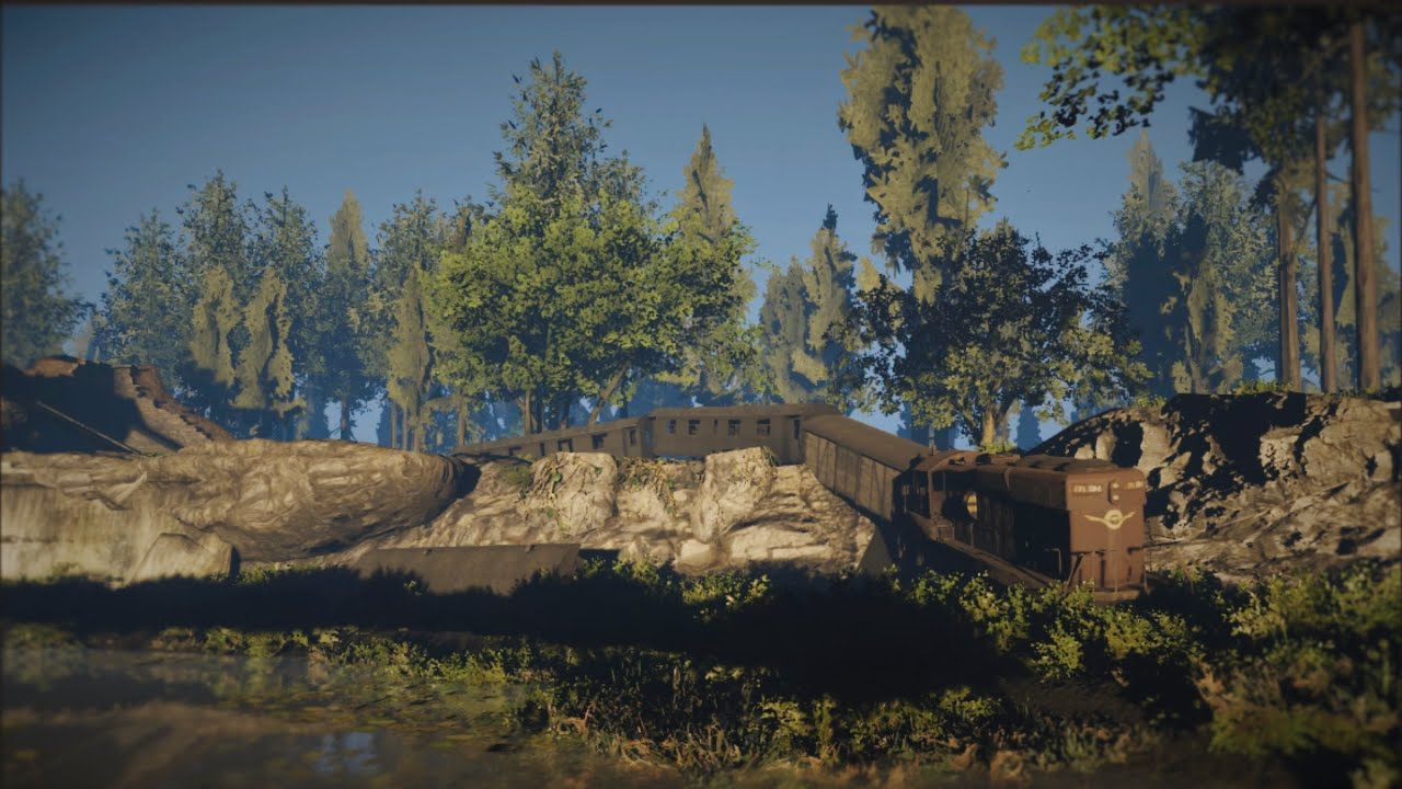 Cryengine V creating a quick scene: Trainwreck
