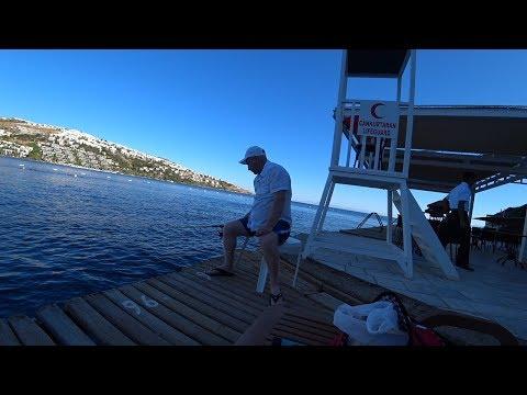 Влог/Турция/Green Beach Resort 5*/Bodrum/На море утром/Пришли на море порыбачить