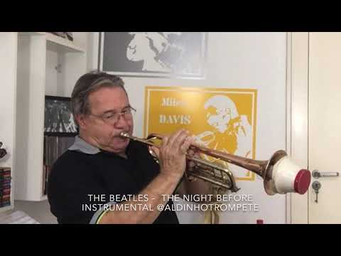 The Night Before The Beatles instrumental solo com surdina @aldinhotrompete