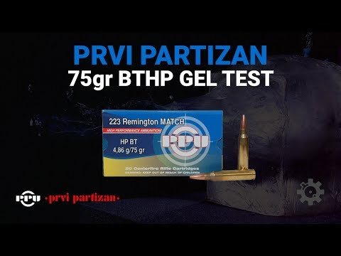 ppu 223 75grn bthp gel test aim. Black Bedroom Furniture Sets. Home Design Ideas