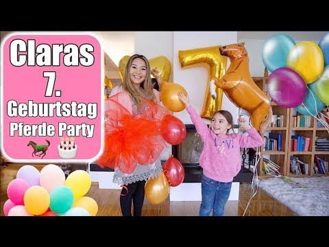 Claras 7. Geburtstag 🎂 Pferde Geburtstags Party   Torte machen & dekorieren   Mamiseelen