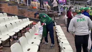 And here are Pakistani supporters cleaning the stadium after the match..look at the difference!