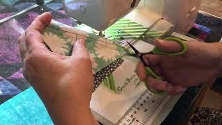 Accordion Sewn Scrappy  Half Square Triangle Technique Part 2 - Sewing  The Accordian!