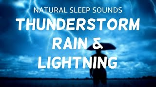 Wind And Rain Sounds For Sleeping   Thunder And Lightning Storm By Night