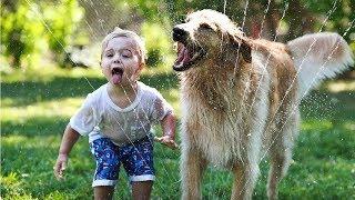 Дети и животные. Подборка хороших видео.