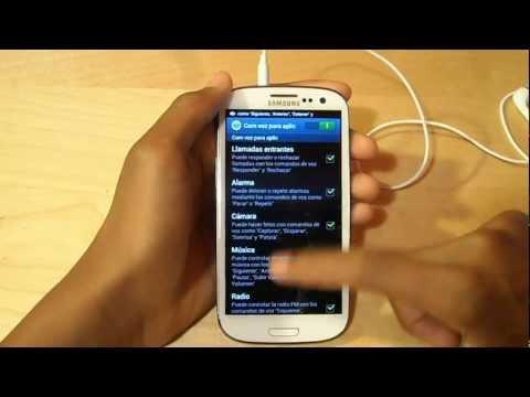 Complet Tutorial | Galaxy S3 [Activar controladores de Voz] (Opción 2)