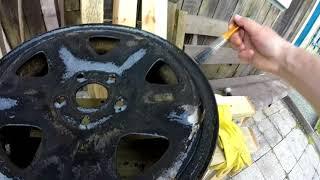 Отшкурил и покрасил штампованные диски