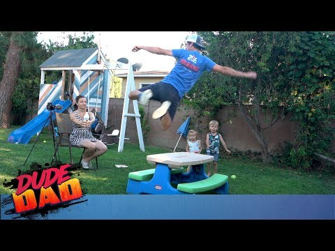 Bottle Cap Challenge EXTREME! | Dude Dad