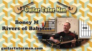 Rivers of Babylon - Boney M - Acoustic Guitar Tutorial (easy)
