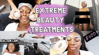 £700 SPENT TRYING EXTRA AF BEAUTY TREATMENTS! IS IT WORTH IT?...SUGARWAX, EYEBROW WEAVE & MORE!