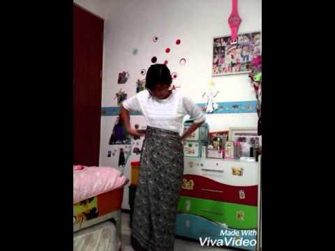 Video Cara memakai rok lilit serut