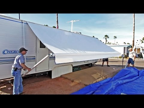 Replace Awning Fabric 2001 Coachmen Mirada 300qb