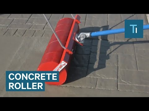 This Roller Makes Plain Concrete Look Like Brickwork