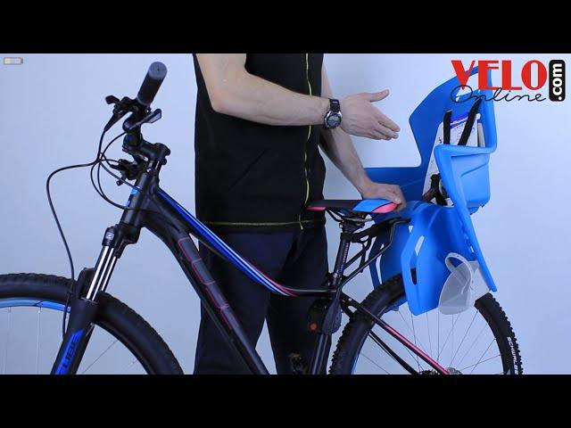 Видео Детское велокресло переднее Polisport BILBY JUNIOR заднее крепление grey-silver