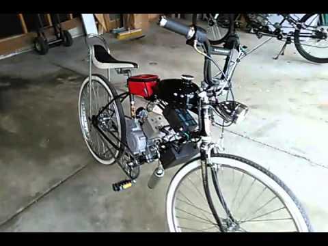 2 stroke motorized bike with alternator and electric start