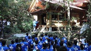 沖ノ島の宗像大社・沖津宮で遷座祭社殿の修理が終了