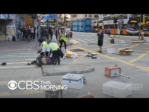 Hong Kong anti-government protester shot, another set on fire