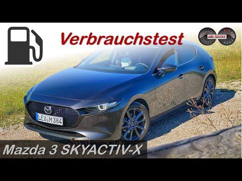 Ist er ein echtes Verbrauchswunder?! Mazda 3 SKYACTIV-X M Hybrid | Verbrauchstest - Review - Test