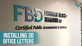 Installation Process of 3D letters for Fishman Block Diamond