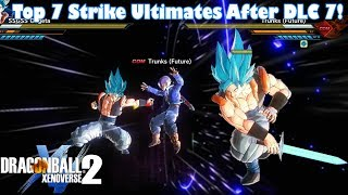 Xenoverse 2 Top 7 Strike Ultimates After DLC 7 Free Update! So Many Moves Were Buffed!