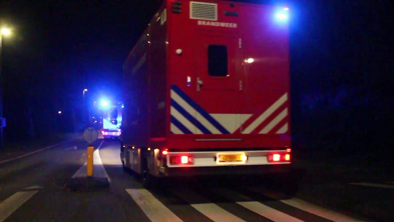 (GRIP1) Vele Hulpdiensten van en naar Zeer Grote Brand in Seniorencomplex Capelle aan den IJssel