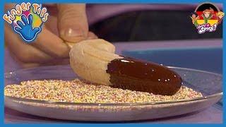 Gefrorene Schokoladen-Banane | Finger Tips