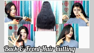 Back & Front Hair Cutting | How Do I Cut My Own Hair At Home