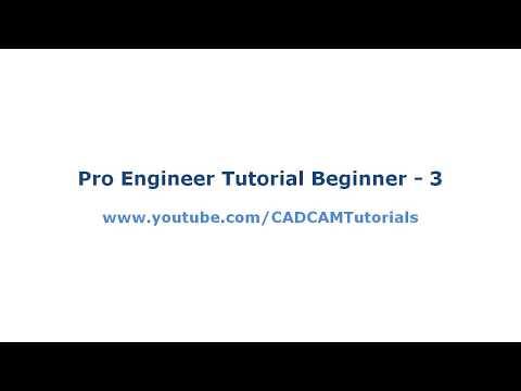 Pro Engineer Tutorial for Beginner - 3 | Pro E Part Modeling Basics ...