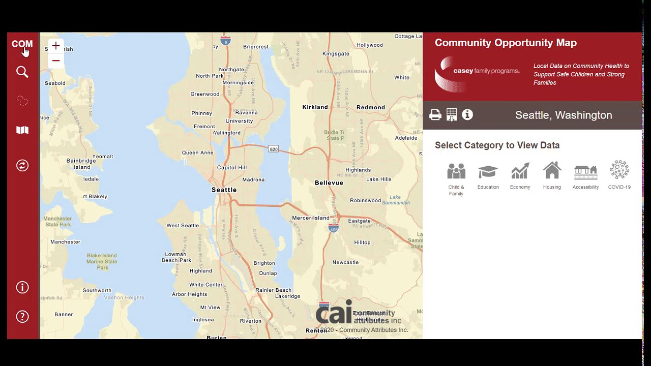 Community Opportunity Map Module 1 with covid data