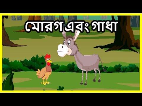 মোরগ এবং গাধা | Panchatantra Moral Stories for Kids | Bangla Cartoon